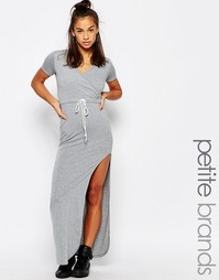 Платье макси с запахом Boohoo Petite - Серый