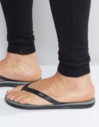 Шлепанцы с перемычкой Nike Solarsoft 488160-090 - Черный