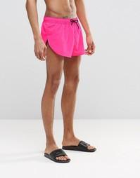 Ярко-розовые суперкороткие шорты с разрезами по бокам ASOS - Розовый