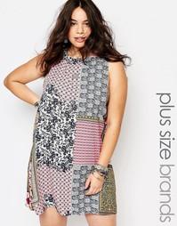 Цельнокройное платье с принтом в стиле пэчворк Alice & You - Мульти