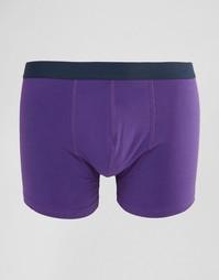 Фиолетовые боксеры-брифы с контрастным поясом ASOS - Фиолетовый