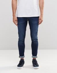 Суперэластичные джинсы скинни Jack & Jones - Умеренный синий