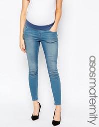 Укороченные джинсы скинни для беременных ASOS Maternity Ridley - Синий