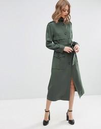 Легкое пальто в стиле милитари ASOS - Хаки