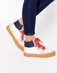 Высокие кроссовки на шнуровке ASOS DUKE - Мульти
