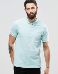 Голубая футболка-поло классического кроя с логотипом Farah