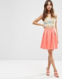 Мини-юбка для выпускного ASOS - Коралловый