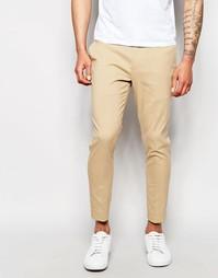 Укороченные суперзауженные брюки ASOS - Кэмел