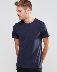 Серо-синяя базовая футболка с круглым вырезом Esprit