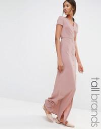 Платье макси с поясом Glamorous Tall - Blush
