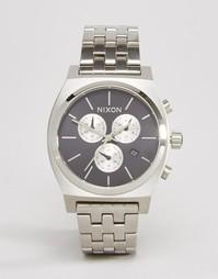 Часы с хронографом из нержавеющей стали Nixon Time Teller - Серебряный