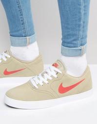 Кроссовки в клетку Nike SB 705265-261 - Зеленый