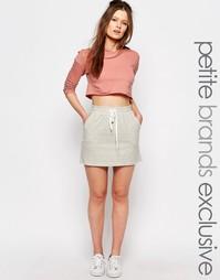 Трикотажная юбка для миниатюрных One Day - Серый меланж