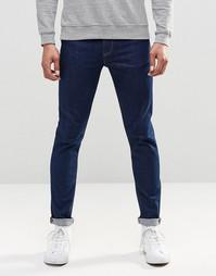 Синие джинсы скинни из денима плотностью 12,5oz ASOS - Умеренный синий