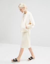 Плиссированная юбка Monki - Кремовый
