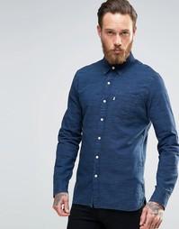 Меланжевая рубашка цвета индиго на пуговицах с одним карманом Levi's S Levi's®
