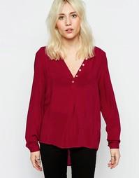 Красная рубашка без воротника Only Fallow - Красный Рио