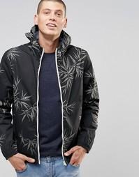Черная куртка с капюшоном и принтом листьев Element Alder - Черный