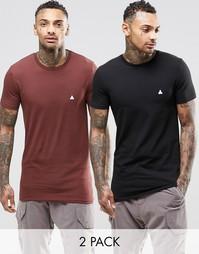 Набор из 2 длинных эластичных футболок ASOS, СКИДКА 15%