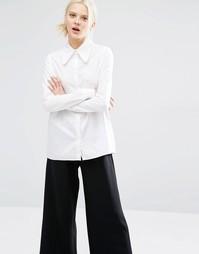 Белая рубашка с воротником в стиле 70‑х Cheap Monday - Белый