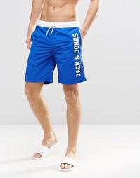 Шорты для плавания с логотипом Jack & Jones - Синий