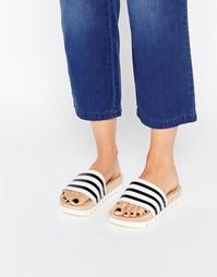 Сандалии на деревянной подошве adidas Originals Adilette - Бежевый