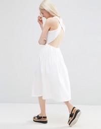 Приталенное платье миди ASOS - Белый