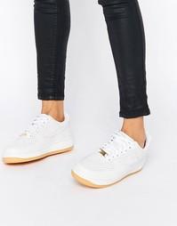 Кожаные кроссовки с перфорацией Nike Air Force 1 07 Prm - Белый