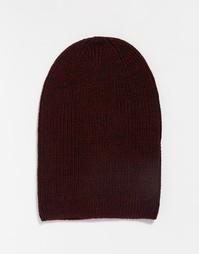 Бордовая шапка-бини ASOS - Burgundy