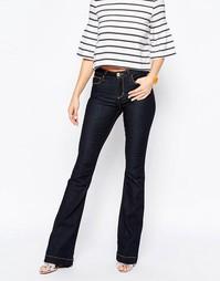 Расклешенные джинсы с вышивкой Love Moschino - Bl1