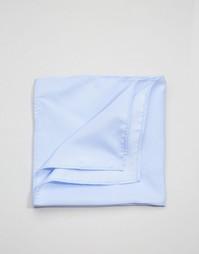 Нежно-голубой платок для нагрудного кармана ASOS Wedding - Синий