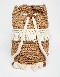 Соломенный пляжный рюкзак ASOS - Мульти