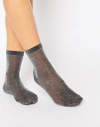 Носки с блестками ASOS - Черный