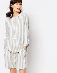 Oversize-рубашка в полоску Just Female Gibli - Антрацитовая полоска