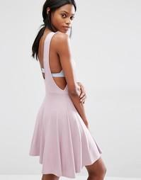 Приталенное платье с заниженными проймами Missguided - Mauve