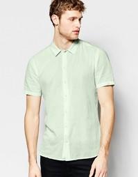 Бледно-зеленая рубашка с короткими рукавами ASOS - Мятный