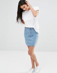 Светлая джинсовая мини-юбка Brave Soul - Светло-голубой