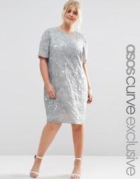 Цельнокройное платье с декоративной отделкой ASOS CURVE
