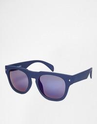 Коричневые солнцезащитные очки в квадратной оправе Jack & Jones