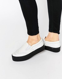 Кроссовки в стиле брогов ASOS DERBY - Черно-белый