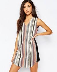 Цельнокройное платье с вышивкой Deby Debo Diego - Печатный