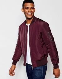 Бордовая куртка-пилот с карманами ASOS MA1 - Burgundy