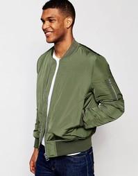 Куртка-пилот цвета хаки с карманами ASOS MA1 - Хаки