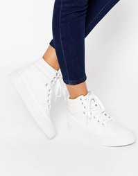 Высокие кроссовки на шнуровке ASOS DUKE - Белый