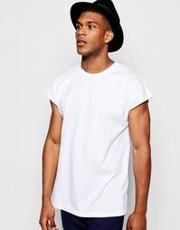 Белая oversize‑футболка без рукавов ASOS - Белый