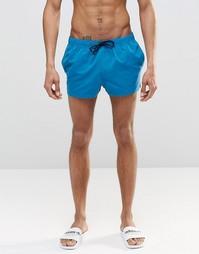 Голубые короткие шорты для плавания ASOS - Синий