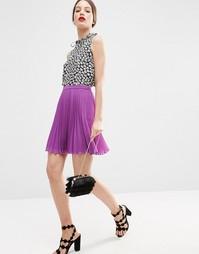 Плиссированная мини-юбка ASOS - Фиолетовый