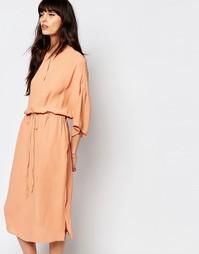 Платье миди с драпировкой Just Female - Оранжевый
