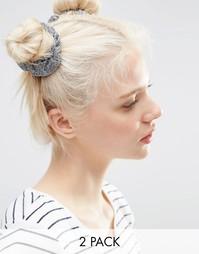 Комплект из 2 резинок для волос с металлическими блестками ASOS