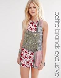 Цельнокройное платье с лоскутным принтом Glamorous Petite - Мульти